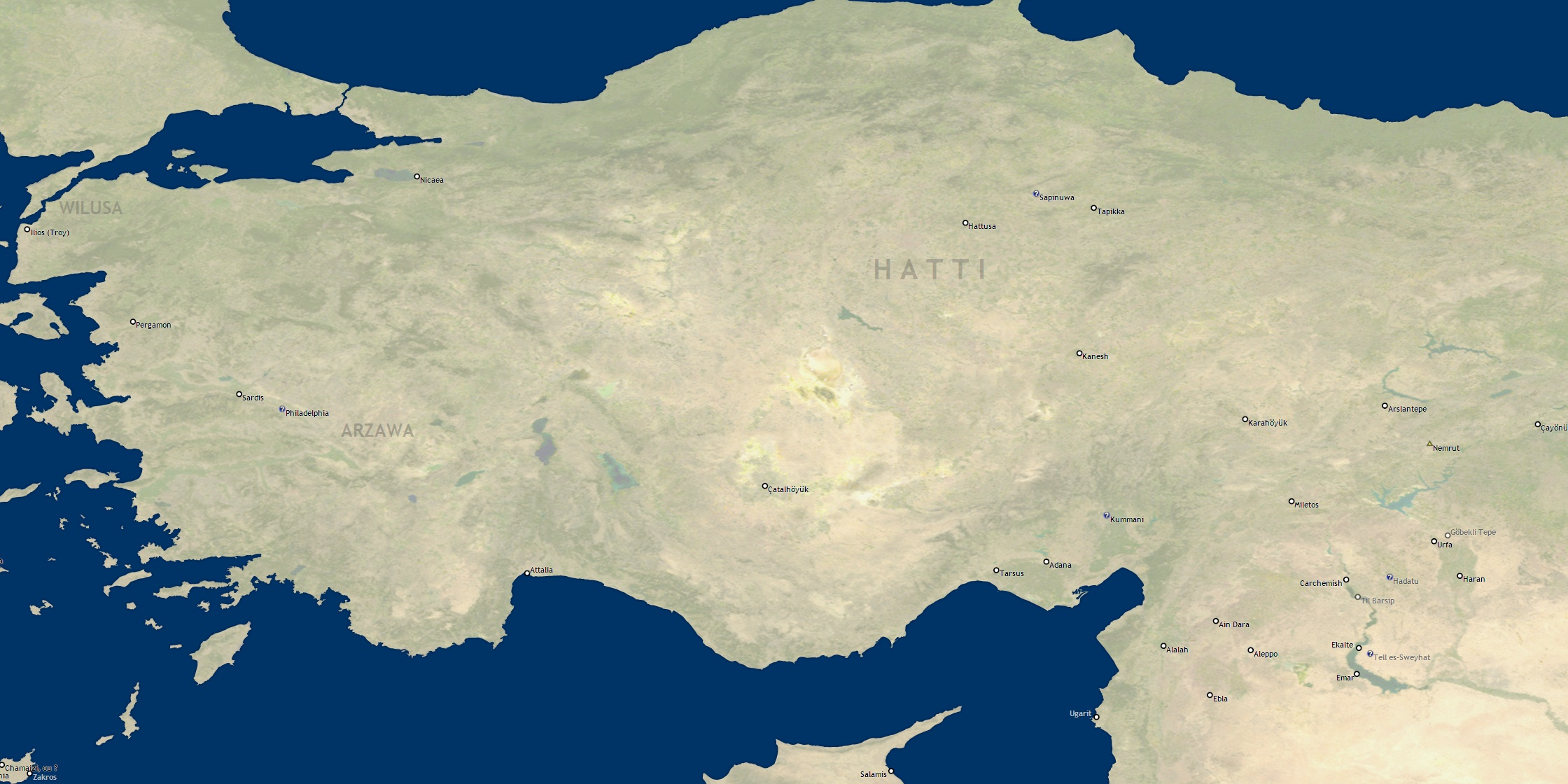 Ancient Locations - database of archaeological sites